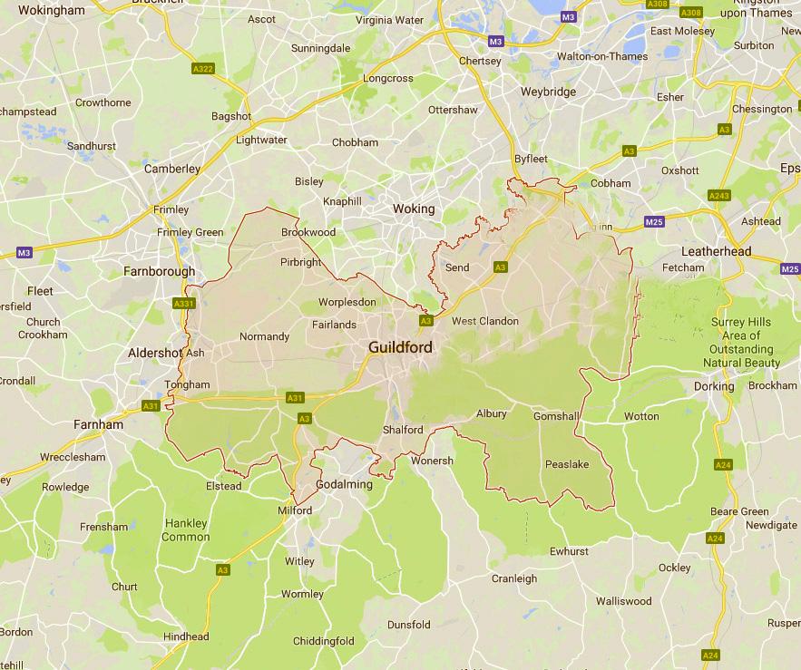 Guildford Borough Council Map